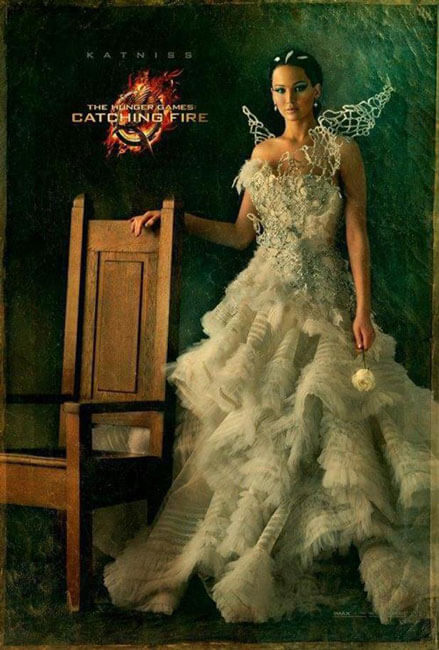 Jennifer Lawrence as Katniss Catching Fire Portrait