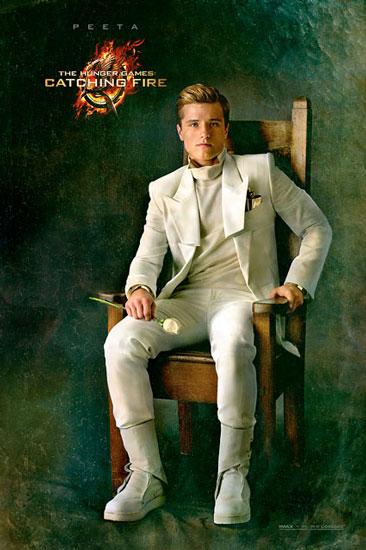 Josh Hutcherson as Peeta in The Hunger Games Catching Fire