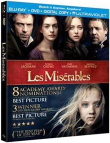 Les Miserables on Blu-ray and DVD