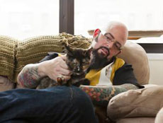 Jackson Galaxy from 'My Cat From Hell' in Times Square in New York City