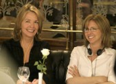 Diane Keaton and Nancy Meyers on the set of Something's Gotta Give