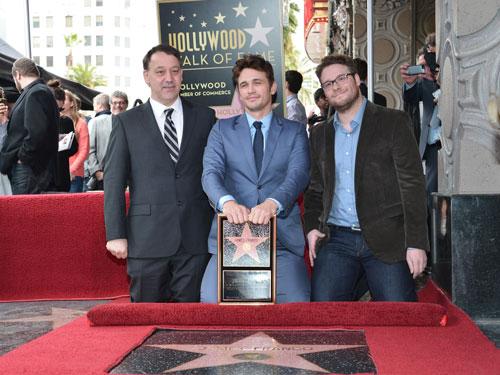 Sam Raimi, James Franco, and Seth Rogen Walk of Fame Ceremony