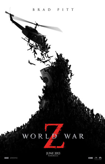 World War Z Film Poster with Zombies