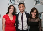 Kathleen Kennedy, Joseph Gordon-Levitt and Sally Field CinemaCon Photo