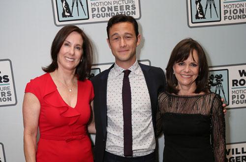 Kathleen Kennedy, Joseph Gordon-Levitt and Sally Field CinemaCon Photo