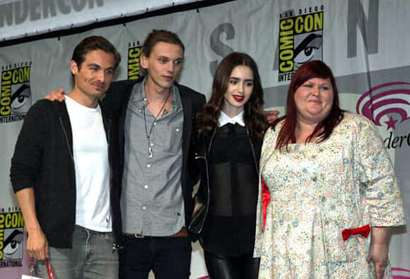 Kevin Zegers, Jamie Campbell Bower, Lily Collins and Cassandra Clare
