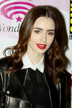 Lily Collins at the 2013 WonderCon