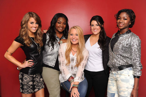 Angie Miller, Candice Glover, Janelle Arthur, Kree Harrison and Amber Holcomb