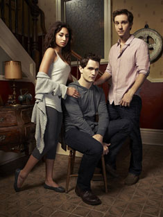 Meaghan Rath, Sam Witwer and Sam Huntington in Being Human