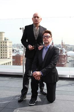 Ben Kingsley and Robert Downey Jr