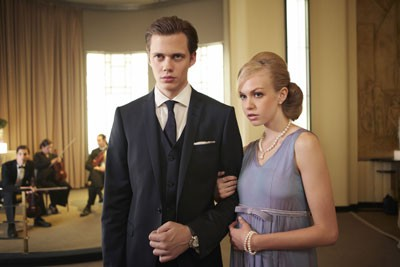 Bill Skarsgard and Penelope Mitchell in Hemlock Grove
