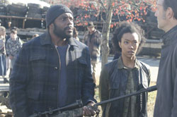 Chad Coleman, Sonequa Martin-Green and David Morrissey in The Walking Dead