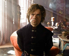 Peter Dinklage as Tyrion Lannister in season 3 of Game of Thrones.