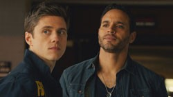 Aaron Tveit and Daniel Sunjata in Graceland