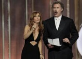 Kristen Wiig and Will Ferrell at the 2013 Golden Globes