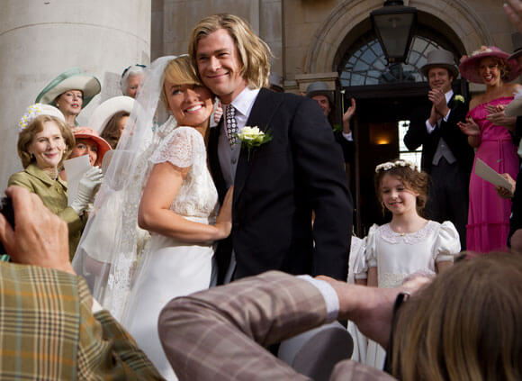 Olivia Wilde and Chris Hemsworth in Rush