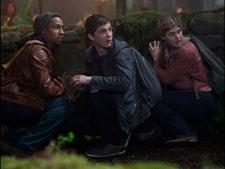 Brandon Jackson, Logan Lerman and Alexandra Daddario in Percy Jackson Sea of Monsters