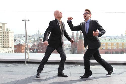 Robert Downey Jr Throws a Punch at Ben Kingsley