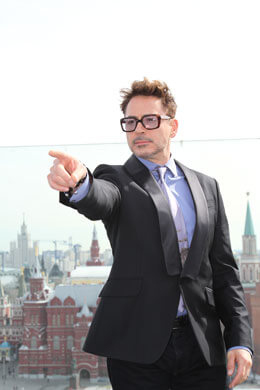 Robert Downey Jr in Moscow