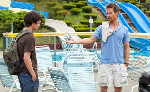 Liam James and Sam Rockwell in The Way, Way Back