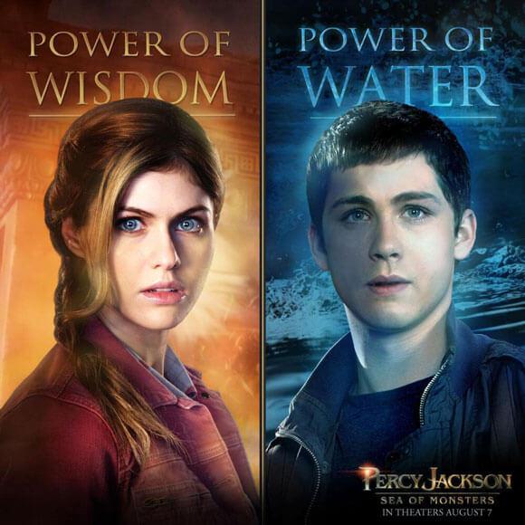Alexandra Daddario and Logan Lerman Percy Jackson Sea of Monsters