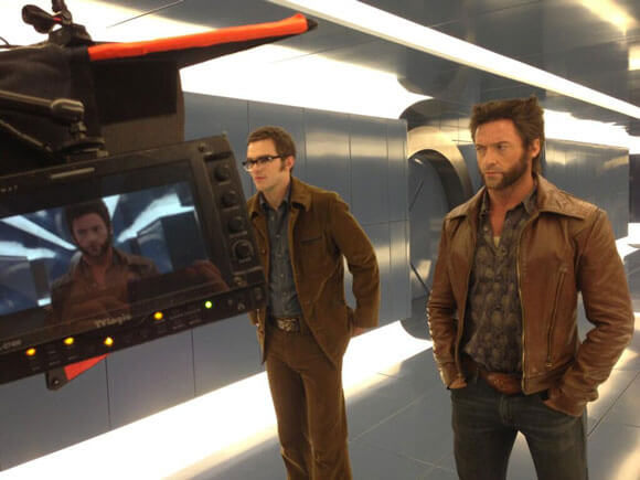 Nicholas Hoult and Hugh Jackman on the 'X-Men: Days of Future Past'