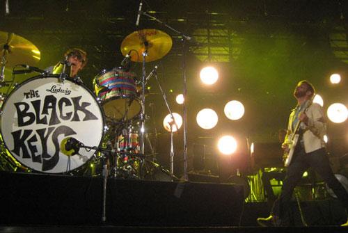 The Black Keys on stage at the KROQ Weenie Roast