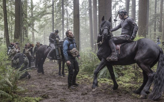 Caesar on a Horse in Dawn of the Planet of the Apes