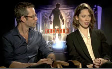 Guy Pearce and Rebecca Hall Iron Man 3 Interview