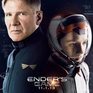 Harrison Ford and Asa Butterfield in Ender's Game