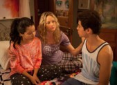 Cierra Ramirez, Teri Polo and Jake T Austin in 'The Fosters'