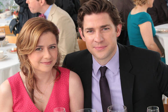 Jenna Fischer and John Krasinski in 'The Office'