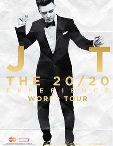 Justin Timberlake 20/20 Experience World Tour Poster