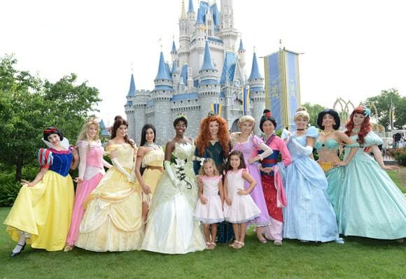 Merida and the Disney Princesses
