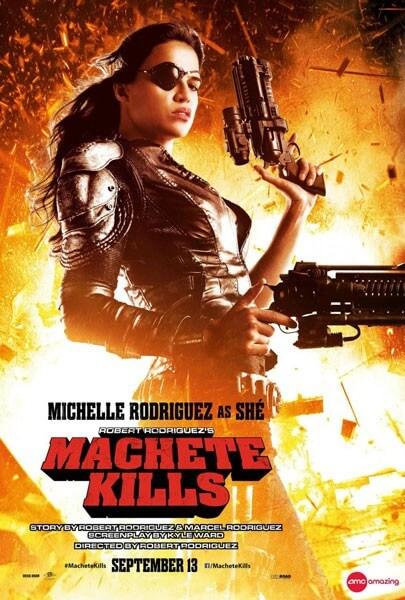 Michelle Rodriguez Machete Kills Poster