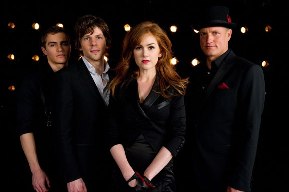 Dave Franco, Jesse Eisenberg, Isla Fisher, Woody Harrelson in Now You See Me