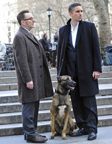 Michael Emerson and Jim Caviezel in 'Person of Interest'