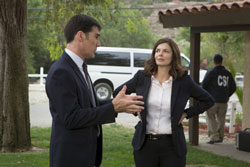 Thomas Gibson and Jeanne Tripplehorn star in 'Criminal Minds'