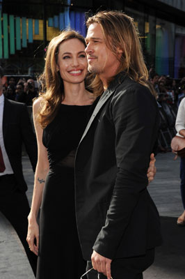 Angelina Jolie and Brad Pitt at the Global Premiere of 'World War Z'