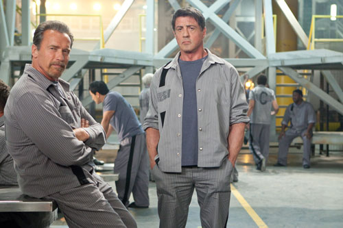 Arnold Schwarzenegger and Sylvester Stallone star in Escape Plan