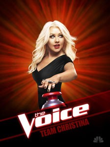 Christina Aguilera The Voice Poster
