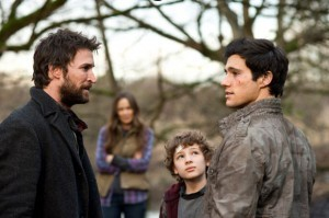 Noah Wyle and Drew Roy in 'Falling Skies'