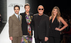 Zac Posen, Heidi Klum, guest judge Michael Kors and Nina Garcia on Project Runway