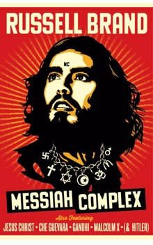 Russell Brand Messiah Complex Tour Poster