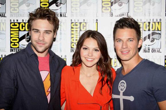 Grey Damon, Aimee Teegarden and Matt Lanter from Star-Crossed