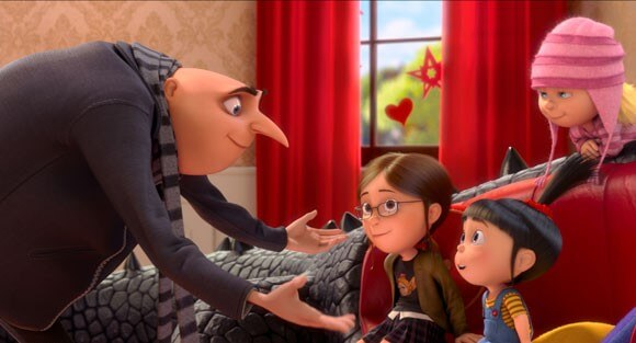 A scene from Despicable Me 2 with Steve Carell