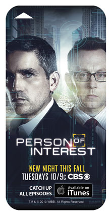 Person of Interest Comic Con Keycard