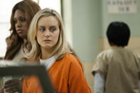 Laverne Cox and Taylor Schilling in 'Orange is the New Black'
