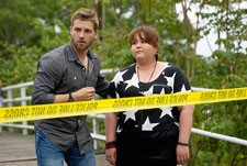 Mike Vogel and Jolene Purdy in 'Under the Dome'