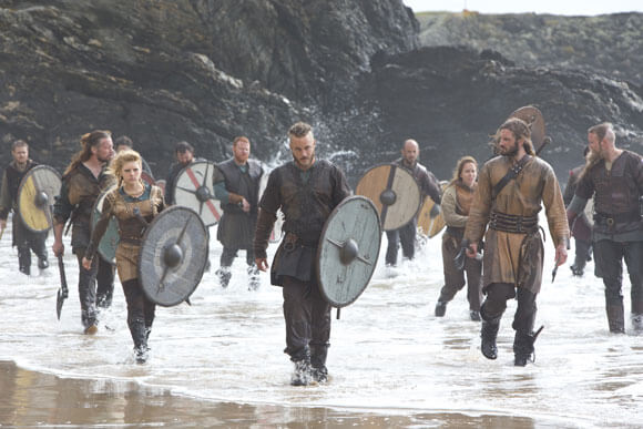 Vikings Cast Photo for Michael Hirst Interview